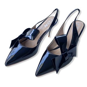 size 8 YDN Women Pointed Toe Slingback Slip on Dress Pumps Stiletto Mid Heels Evening Prom Sandals Shoes with Bows for Sale in Las Vegas, NV