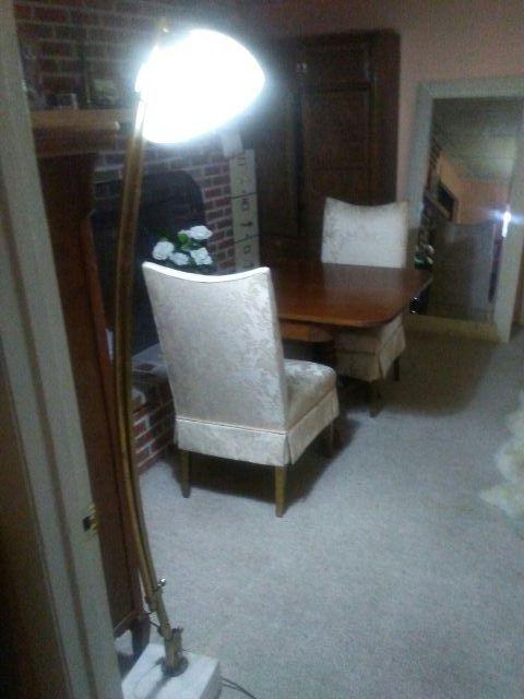 Floor Lamp _ Marble Base
