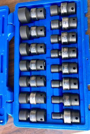 Cornwell 15pc 3/8 Metric Universal Socket set ! ((($220 ))) (((((8mm-19mm,21mm,22mm&24mm)))) for Sale in Riverside, CA