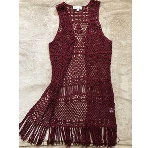 Pink Rose -women's crocheted vest for Sale in Las Vegas, NV