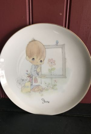 Precious moments plates 1983 God's masterpiece the month of June for Sale in Bethlehem, PA
