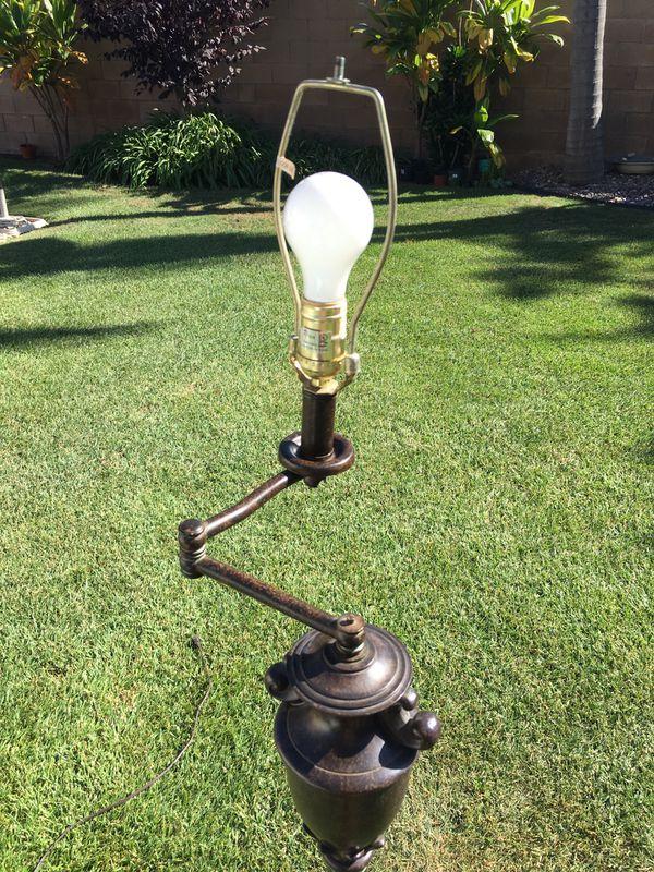 PRICE LOWERED! Swing arm floor lamp-antique bronze finish