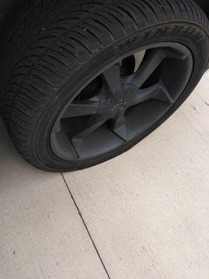 Yukon black rims an tires $900 6lugs for Sale in Lilburn, GA