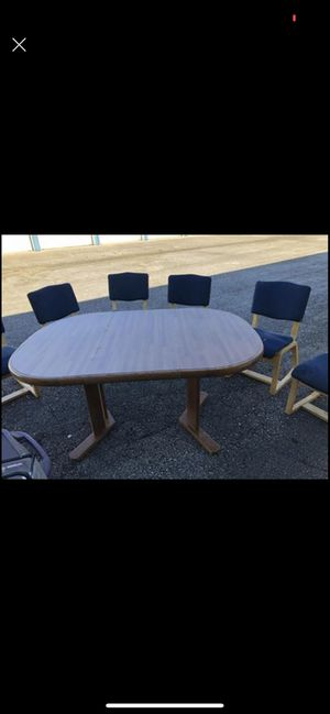 Kitchen table with 6 cushion chairs for Sale in Huntington, IN