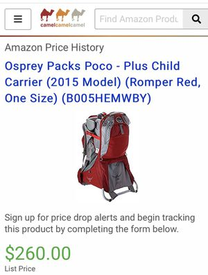ospray baby carrier poco plus for Sale in Bethesda, MD