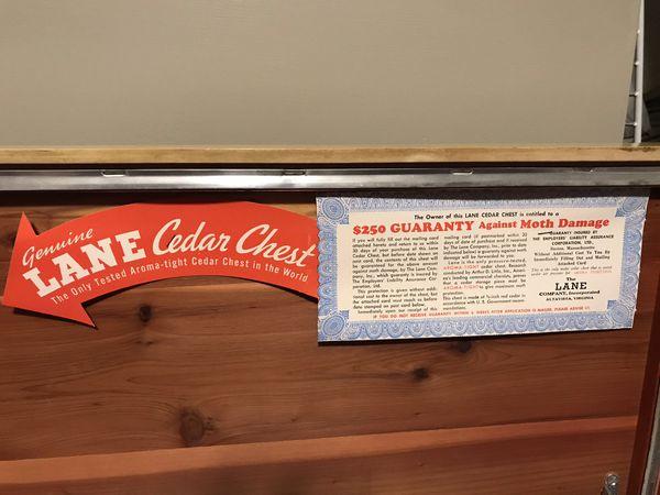 Vintage lane cedar chest