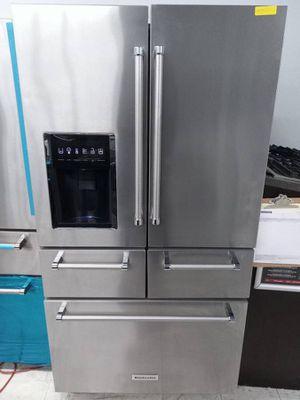 Kitchen Aid stainless steel five door French door refrigerator for Sale in Los Angeles, CA