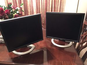 """Dell 22"""" LED Color Monitors Used As Dual Monitors $15 Each or Best Offer for Sale in WHT SETTLEMT, TX"""