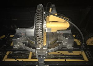 Dewalt Dw713 compound miter saw w/dewalt dwx726 portable rolling miter saw stand for Sale in Coronado, CA