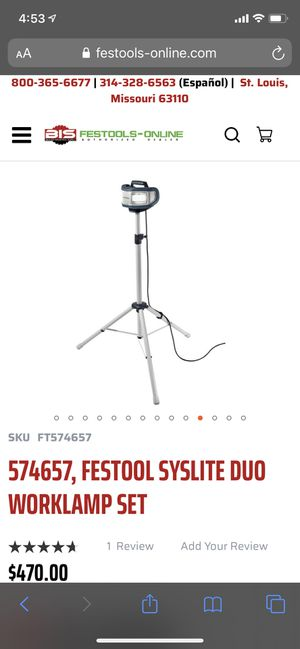 Festool light with Tripod for Sale in New York, NY