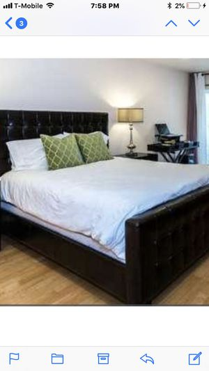 Gorgeous queen size bed frame/from Z Galley furniture for Sale in San Jose, CA