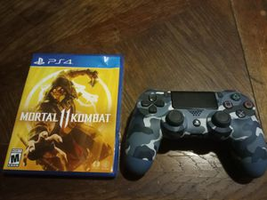 PS4 brand new controller and the new mortal Kombat 11 for Sale in Cleveland, OH