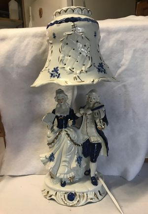 Blue and white collectible lamp for Sale in Orange Park, FL