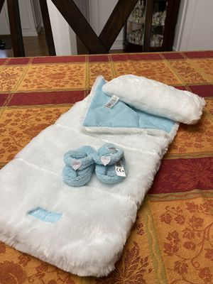 American Girl brand sleep bag with pillow and shoes $12 for Sale in Spanaway, WA