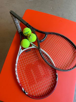 Wilson tennis Racket and balls for Sale in Orlando, FL