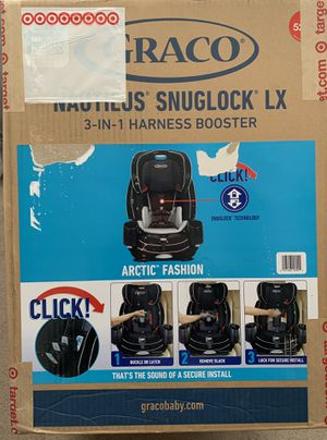 Graco nautilus Snuglock lx 3-in-1 harness booster car seat for Sale in Hayward, CA