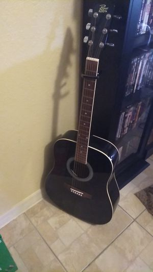 Acoustic guitar in Black asking 75 great Christmas present for Sale in Cape Coral, FL