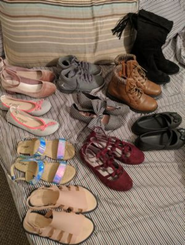 Lot of size 3 girls shoes