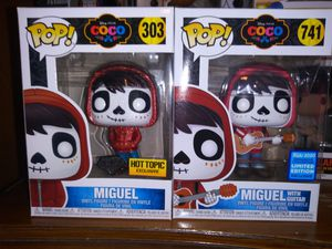Miguel from Coco Funko pops Disney for Sale in Fresno, CA