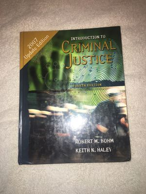 Introduction to Criminal justice 4th edition for Sale in Los Angeles, CA