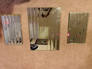Beautiful 3 piece Mirror Wall Set for Sale in Bowie, MD