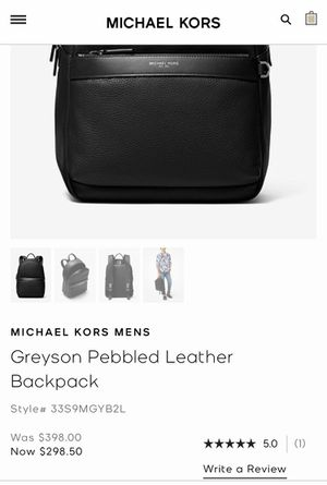 Michael Kors Greyson pebbled leather backpack for Sale in Colton, CA