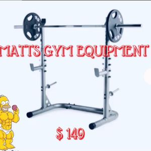 Olympic Squat Rack (weights And Bar Sold Separately ) for Sale in Fort Lauderdale, FL
