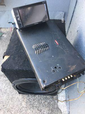 Radio , Amp & Speaker for Sale in Newark, NJ