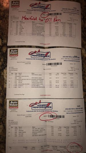 350 four bolt main chevy racing motor & tires for Sale in Seattle, WA