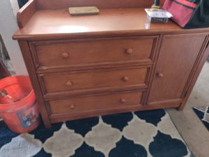Antique dresser solid wood for Sale in Huntington Beach, CA