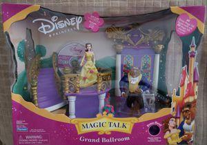 DISNEY'S GRAND BALLROIM : Just in time for Christmas! Rare! New! Disney Beauty & The Beast Grand Ballroom Magic Talk Playset; Belle Doll & Beast for Sale in Brea, CA