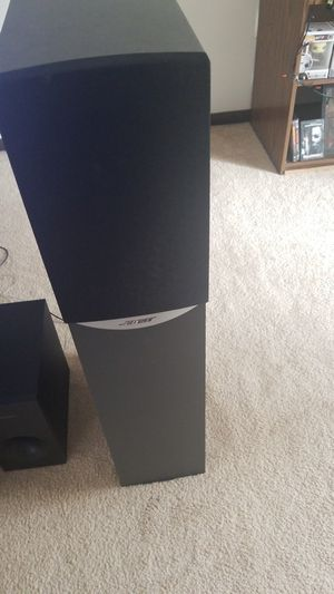 2 bose tower speakers and yamaha receiver for Sale in Pittsburgh, PA