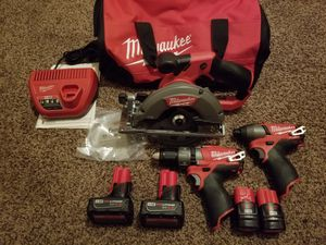 Milwaukee M12 FUEL Brushless Cordless 3 Tool Combo Kit for Sale in Modesto, CA
