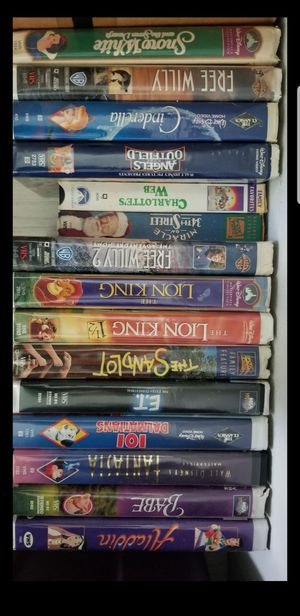 15 VHS tapes, disney movies for Sale in Hollywood, FL