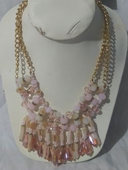 Pink Orange Bead Stone Women's Statement Necklace for Sale in Columbus,  OH