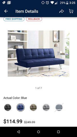 Serta Chelsea Convertible sofa futon blue for Sale in Hayward, CA
