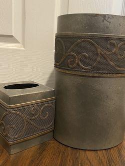 Trash Bin And Tissue Box Cover for Sale in Aurora,  IL