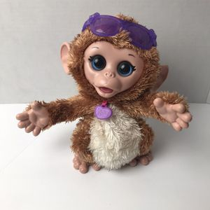 Furreal Friends Giggley Monkey Interactive Dancing Plush Pet Toy Hasbro 2013 for Sale in Avon Lake, OH