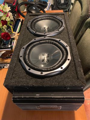 Sony Xplod 1100w subs and 600w Kenwood amp for Sale in Adelphi, MD