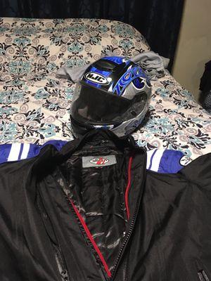 Joe Rocket motorcycle jacket and HJC helmet for Sale in Lawrence, MA
