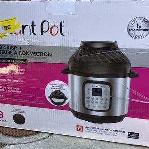 Instant Pot 8qt Duo Crisp Combo Electric Pressure Cooker Air Fryer for Sale in Rancho Cucamonga, CA