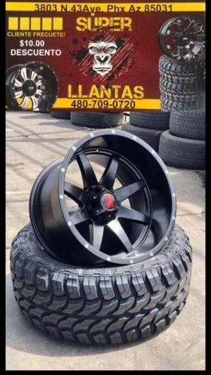 RINES 20X12 Y LLANTAS 33 1250 20 for Sale in Phoenix, AZ