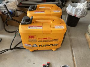 Pair of kipor generators for rv or tailgate 4K volts 30 amp cable for Sale in San Tan Valley, AZ