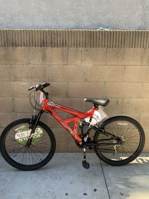 🔥😍 RED 24 INCH DUAL SUSPENSION MOUNTAIN BIKE NEW NEVER USED 18 SPEED 🔥📈 for Sale in Buena Park, CA