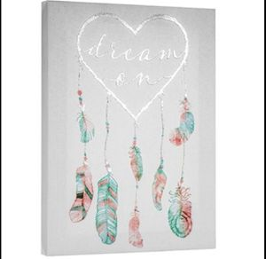 "Crystal Art ""Dream On"" Dream Catcher Wrapped Canvas Print Wall Art Decor for Sale in Frisco, TX"
