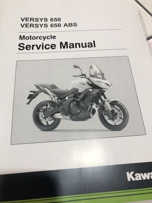 Kawasaki Versys 650 motorcycle service manual. Brand new. for Sale in Whittier, CA