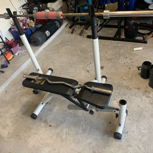 Weights Bench And Squat Machine for Sale in Humble, TX
