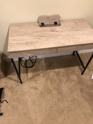 Desk with power strip and Rolling Chair (NEW, UNUSED) for Sale in Leesburg, VA
