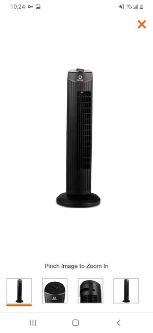 28 in. Black Oscillating Tower Fan with 3 Wind Speeds for Sale in Bakersfield, CA