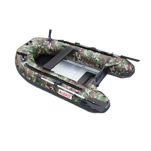 BTF250CM PRO Fishing Boat Raft 8.4 Feet with Aluminum Floor 3 Person Inflatable Boat with Fishing Rod Holders, Camouflage for Sale in Kent, WA